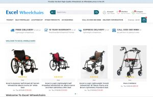 Excel Wheelchairs Online Shop